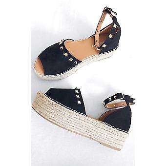 IKRUSH Womens Kandi bezaaid Espadrille Flatform sandaal