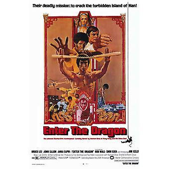 Enter the Dragon Movie Poster (11 x 17)