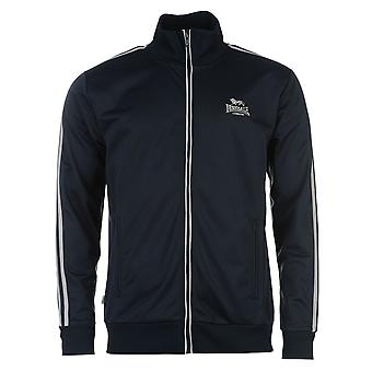 Lonsdale Mens Track Jacket High Neck Full Zip Fleece Ribbed Sports Top