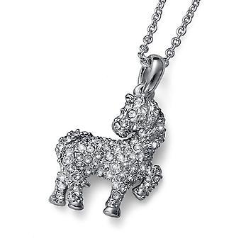 Oliver Weber Pendant Horsey Rhodium Crystal