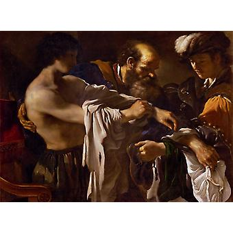 Le retour du Fils Prodigue, GUERCINO, 50x40cm