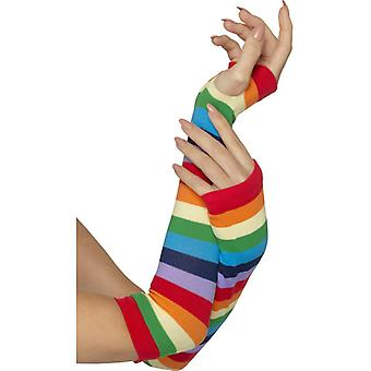 Fingerless Striped Gloves