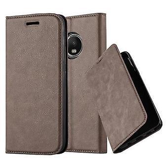 Motorola MOTO G5 PLUS -taitettavan puhelinkotelon kotelo - kansi - jalustatoiminnolla ja korttilokerolla