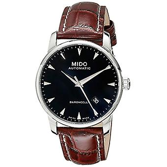 Mido Analog Automatic men's watch with leather band _ M86004188
