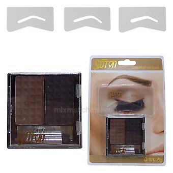 Saffron Eyebrow Kit With Stencils ~ Light Brown Shade 02