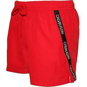 Calvin Klein угловой логотип ленты плавки, красная помада