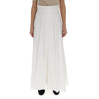Brunello Cucinelli M0f79g2784c600 Women's White Cotton Pants