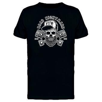 Straße Alptraum Hipster Skull T-Shirt Herren-Bild von Shutterstock