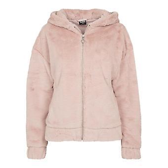Urban Classics Damen Zip Hoodie Teddy Jacket