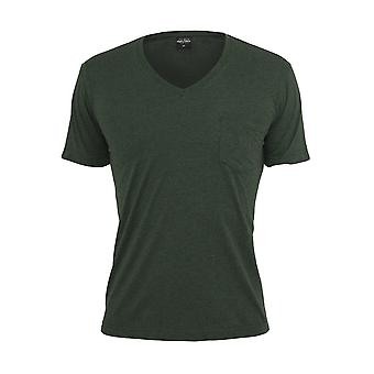 Urban Classics Men's T-Shirt Melange V-Neck Pocket
