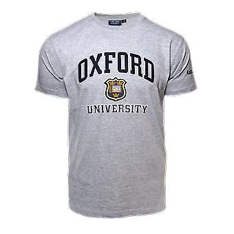 Unisex oxford university™ applique embroidery t shirt grey