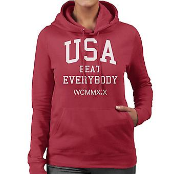 USA Beat Everybody WCMMXIX Flock Women's Hooded Sweatshirt