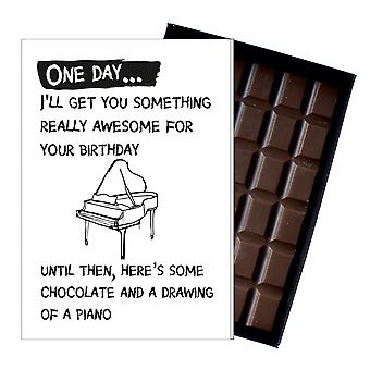 Funny Birthday Gift for Musician Pianist Piano Player Boxed Chocolate Greeting Card Present OD138