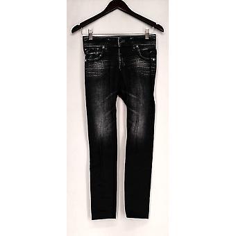 Slim 'N Lift Leggings Caresse Knit Ankle Length Pull-On Black C415986