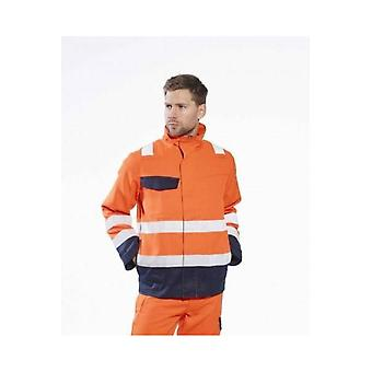 Portwest modaflame ris orange & navy hi vis jacket  mv35
