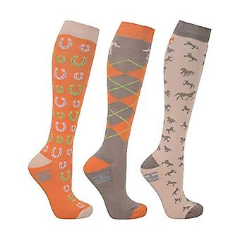 HyFASHION Adults Horse Shoes Socks (Pack of 3)