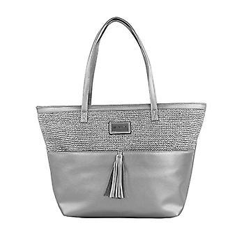 Bluebags FORTIME - Bolso Fashion Hizb Plateado Shoulder Bags Donna Silver (Plata)