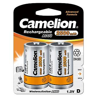12x Camelion rechargeable D Batteries NiMH HR20 LR20 2500mAh battery