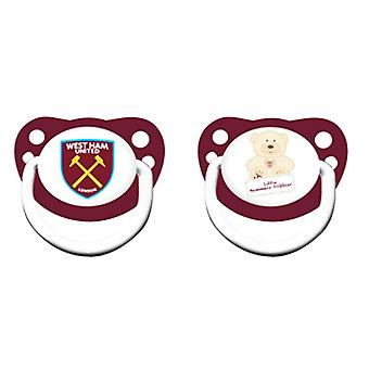 West Ham United FC officiële baby Soothers (2 pakjes)