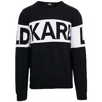 Lagerfeld Black Knit Crew Neck Sweatshirt