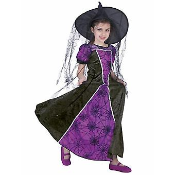 Witch Costume Girl Spider Witch Children's Costume Halloween Carnival Costume Kids