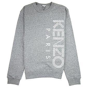Kenzo Side Paris Logo Felpa Marl Grey