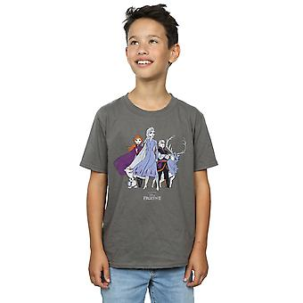 Disney Boys Frozen 2 Distressed Group T-Shirt