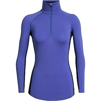 Icebreaker Women's 200 Zone LS Half Zip - Mystic/Midnight Navy
