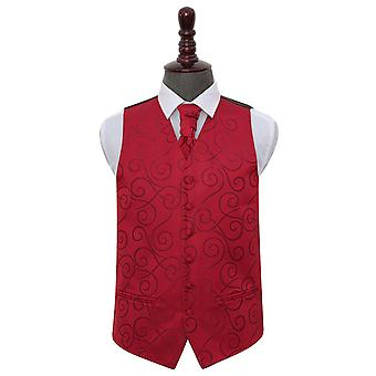Bourgondische Scroll Wedding Vest & Cravat Set