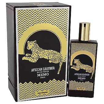 African leather eau de parfum spray (unisex) by memo 541290 75 ml
