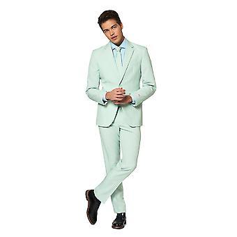 Magic Mint Mint Green Suit Mister Mint Opposuit Slimline Premium 3 pièces EU SIZES