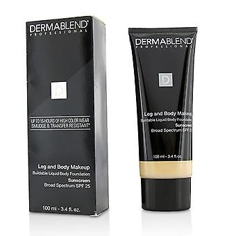 Dermablend Leg And Body Make Up Buildable Liquid Body Foundation Sunscreen Broad Spectrum Spf 25 - #fair Nude 0n - 100ml/3.4oz