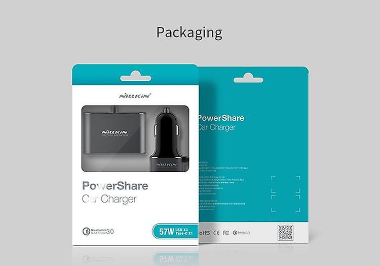 Nillkin PowerShare Auto-Ladegerät 4 x Port USB mit Verlängerung 2m grau