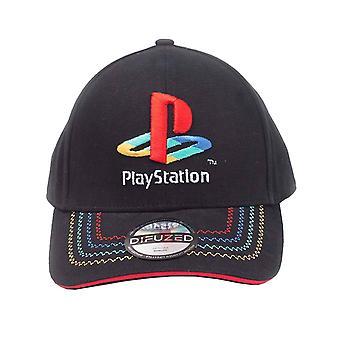 Playstation Baseball Cap Classic Retro Logo new Official Black Strapback