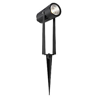 Saxby Lighting Lance Integrado LED Luz De Tierra Mate Negro, Vidrio IP65 79192