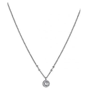 Necklace and pendant Lotus Style LP1521-1-1 - necklace and pendant silver rhinestone classic woman