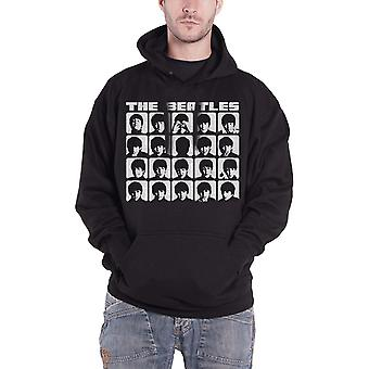 The Beatles Hoodie Hard Days Night Faces Mono new Official Mens Black Pullover