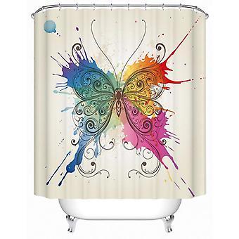 Artistic Paint Splash Butterfly Shower Curtain