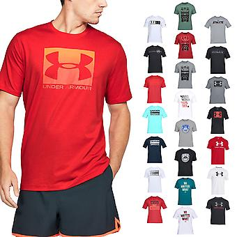 Under Armour Mens UA Graphic Charge Cotton Training Logo Tee T-Shirt