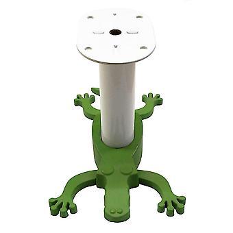 Valkoinen lastentarhan jalka vihreällä krokotiililla 10 cm (1 kpl)
