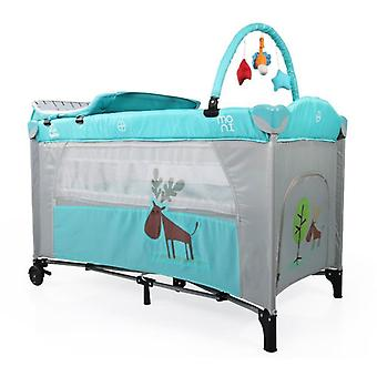 Travel bed, running stable Happy Baby mosquito net, play bow, wrap pad, rolls