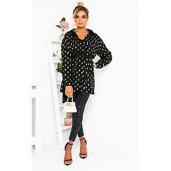 IKRUSH Womens Ciara Polka Dot Shirt Dress