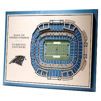 YouTheFan Wood Wall Decoration Stadium Carolina Panthers 43x33cm