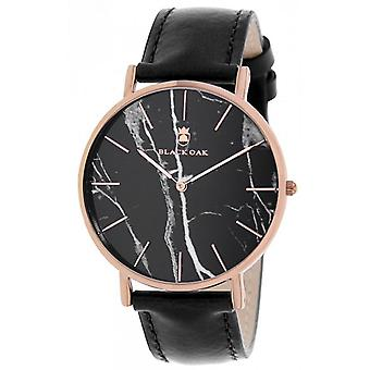 Shows Black Oak BX97031-803 - leather black case steel Dor rose dial black man