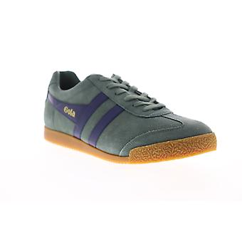 Gola Harrier Suede  Mens Green Lace Up Low Top Sneakers Shoes