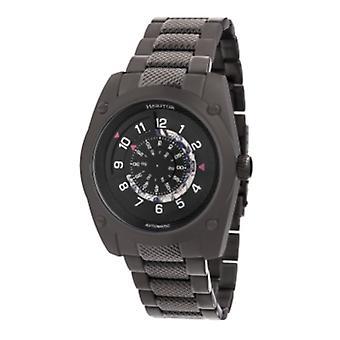 Heritor Automatic Daniels Semi-Skeleton Bracelet Watch - Black