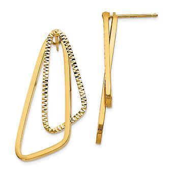 1.5mm 14k Fancy Sparkle Cut Versatile Post Earrings Jewelry Gifts for Women - 3.3 Grams