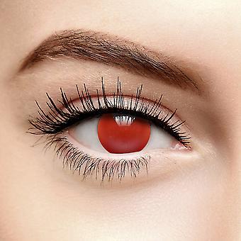 Lentilles de contact colorées à l'aveugle rouge (quotidiennement)