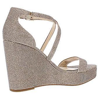Jessica Simpson Womens Samira Shimmer Ankle Strap Evening Sandals