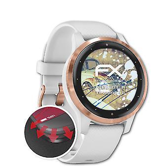 atFoliX 3x Schutzfolie kompatibel mit Garmin Vivoactive 4s Displayschutzfolie matt&flexibel